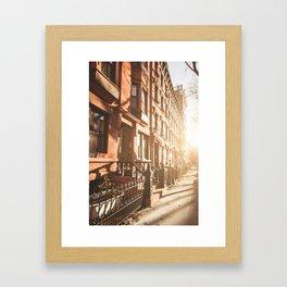 Brownstones in Brooklyn - new york city Framed Art Print