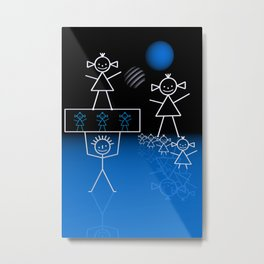 stick figures -30- Metal Print