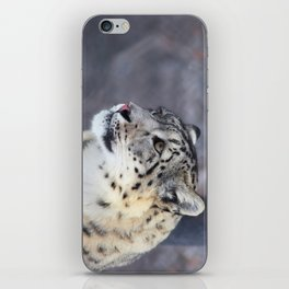 Concerned Mama Snow Leopard iPhone Skin