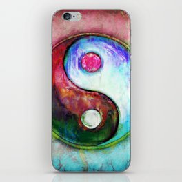 Yin Yang - Colorful Painting IV iPhone Skin