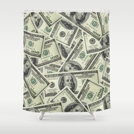 Time is Money Shower Curtain