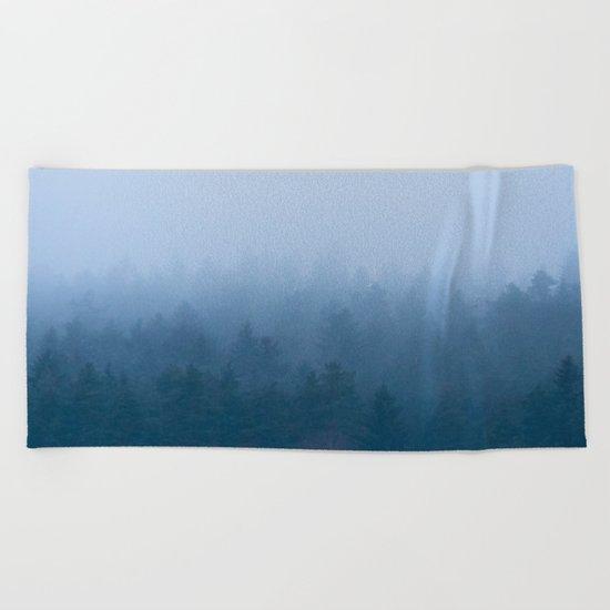 Foggy Forest Beach Towel