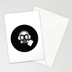 Post World Zuno : Gas Mask 04 Stationery Cards