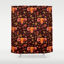 Bold Aries flower pattern Shower Curtain