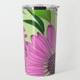 Echinacea on Pistachio Travel Mug