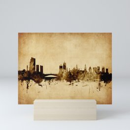 Leeds England Skyline Mini Art Print
