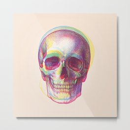 acid calavera Metal Print