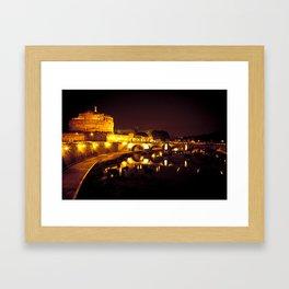 Castel sant'angelo Roma Framed Art Print