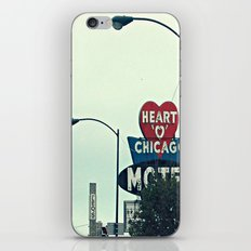 Heart 'O' Chicago Motel (Day) ~ vintage neon sign iPhone & iPod Skin