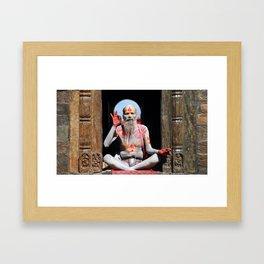 Old Hindu Framed Art Print