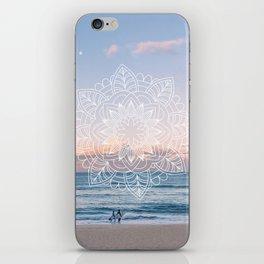Twilight surf mandala iPhone Skin