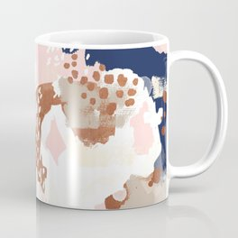 Sonia - rose gold navy copper modern abstract rosegold trendy pattern cell phone accessories Coffee Mug