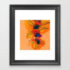 Beautyberry branch Framed Art Print