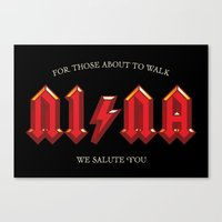 acdc Canvas Prints featuring For those about to walk by Quique Ollervides