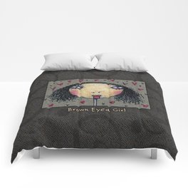 Brown Eyed Girl Comforters
