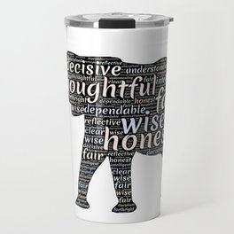 Elephant with words Travel Mug