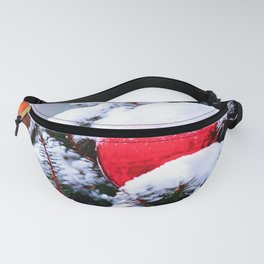 Red Christmas Ornament Fanny Pack