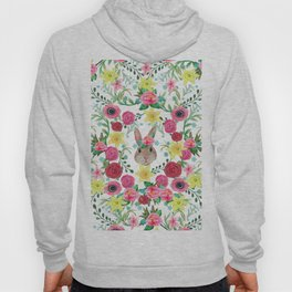 Easter rabbit floral beauty Hoody