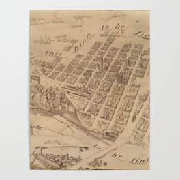 Vintage Map of Minneapolis MN (1891) 2 Poster