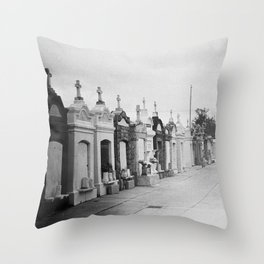 On a Walk in New Orleans Throw Pillow