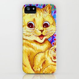 Mother Cat And Kitten - Digital Remastered Edition iPhone Case