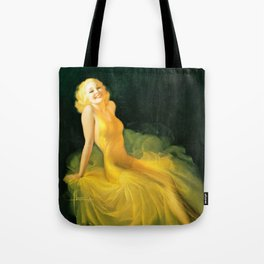 "Pinup by Rolf Armstrong ""The Yellow Gown"" Tote Bag"