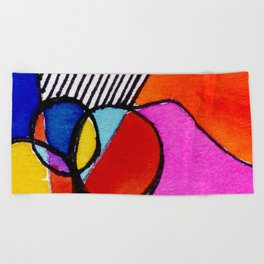 Magical Thinking 7A6 by Kathy Morton Stanion Beach Towel