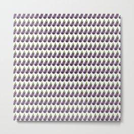 Glitter Eggplant Pattern Metal Print