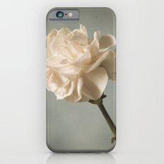 White carnation Slim Case iPhone 6s