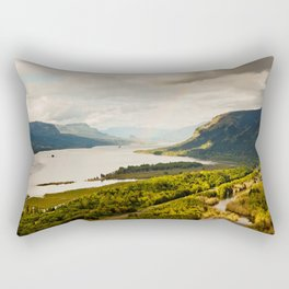 Rainbow Over the Gorge Rectangular Pillow