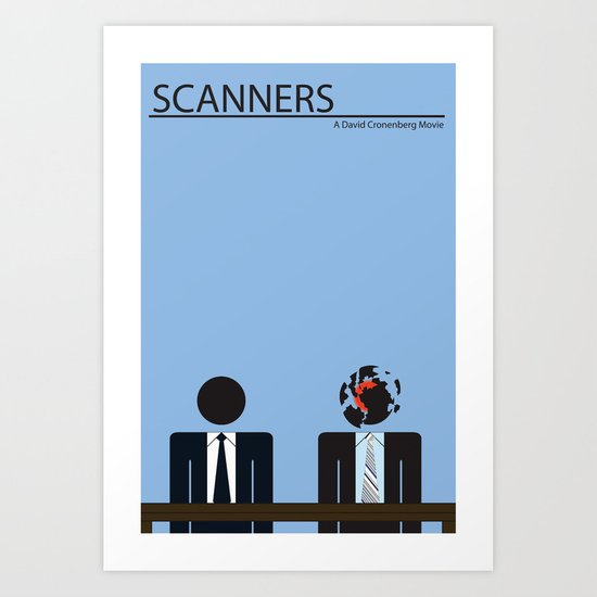 Scanners - Altenative Movie Poster Art Print