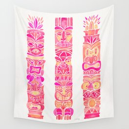 Tiki Totems – Pink Palette Wall Tapestry