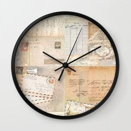 Postcard Love Wall Clock