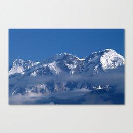 Annapurna, Himalayan Mountain Range seen from Gaunshahar - Greg Katz Canvas Print