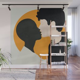 Kissing Flow Wall Mural