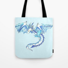 Ice Wyvern Tote Bag
