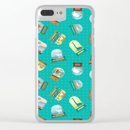 National Parks Snow Globes Clear iPhone Case