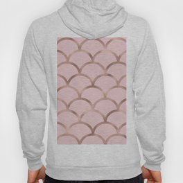 Rose gold mermaid scales Hoody