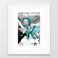 kim sy ok Framed Art Prints featuring OK by Andre Villanueva