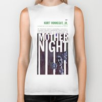 vonnegut Biker Tanks featuring Vonnegut - Mother Night by Neon Wildlife