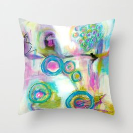 Driven To Distraction, Abstract Landscape Art Throw Pillow