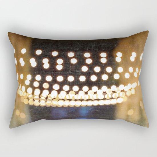 Floating Bokeh Rectangular Pillow