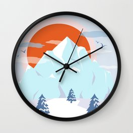 Winter breeze in Alpes Wall Clock