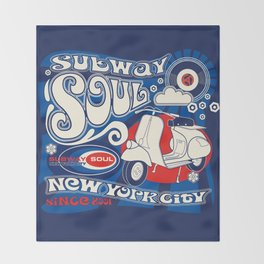 Soul Scoot Subway Soul by Dawn Carrington Throw Blanket