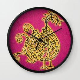 Petite Blonde du Boulevard Brune Wall Clock