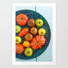 Various heirloom tomatoes Art Print