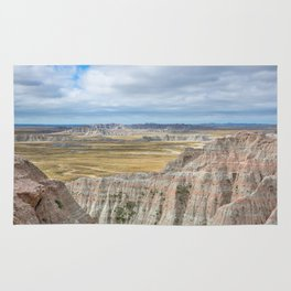 Badlands - Western Scenery in Badlands National Park South Dakota Rug