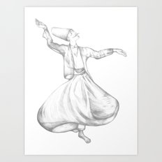 Dervish Art Print