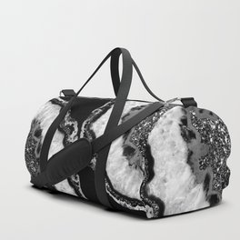 Yin Yang Agate Glitter Glam #4 #gem #decor #art #society6 Duffle Bag