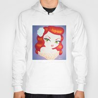 rockabilly Hoodies featuring Rockabilly Redhead by Little Bunny Sunshine